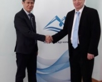 Mr. Arsen Ryspekov, SAEPF Deputy Director and Mr. Ari Mäkelä, project manager and Senior technical adviser at SYKE, April 2017