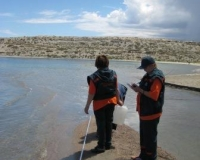 Issyk-Kul Lake monitoring, Ak-Terek village, mouth of Ak-Terek River (June 2014)